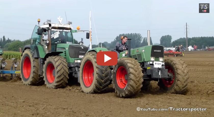 pfl gen mit fendt 614 s favorit fendt 930 vario tractorspotter. Black Bedroom Furniture Sets. Home Design Ideas